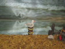 "TRAIN GARDEN VILLAGE HOUSE BOARDWALK  "" SEAGULL on PERCH "" + DEPT 56/LEMAX info"