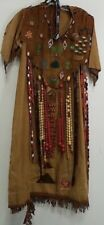 VINTAGE NATIVE AMERICAN STYLE HANDMADE BEADED DECORATED DRESS - PLEASE SEE NOTES