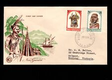 Papua & New Guinea Port Moresby 1st Day 1964 Tribal 5Pound & 2+6 5l