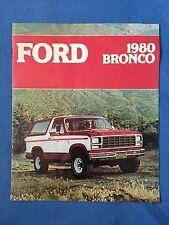 1980 FORD BRONCO Sales Brochure Free Wheeling Custom 4-wheeler 4x4 Off Road XLT