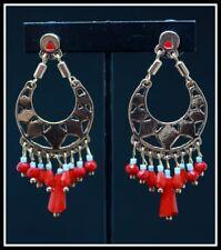 Boucles d oreilles BIJOUX LOL LOLILOTA PARIS clou perle rouge bleu dore or