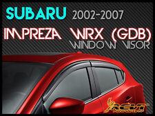 Smoke Window Visor Shade/Vent Wind/Rain/Sun Deflectors FIT FOR 02-07 Impreza WRX