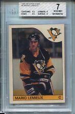 1985 OPC Hockey #9 Mario Lemieux Penguins Rookie Card BGS 7 O-Pee-Chee