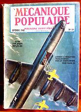 Mécanique Populaire n°28 du 09/1948; Observatoire de Palomar/ Essais de Torpille