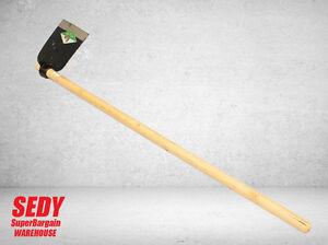 "7"" Flat Hoe With 145cm Wooden Handle Flat Mattock Gardening Farming Hand Tool"