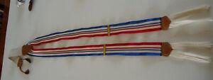 Vtg .TRAFALGAR Button Braces Suspenders RED WHITE BLUE 4th July Patriotic