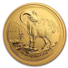 2015 Australia 1/2 oz Gold Lunar Goat BU - SKU #84437