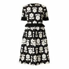 Orla Kiely Flora Jacquard Gathered Dress Size UK 8 LF172 MM 05