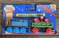 Thomas & Friends Wood Christmas Train Santa's Little Engine New On Card Y5420