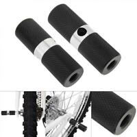 1 Pair Bicycle Pedal Front Rear Axle Foot Pegs BMX Footrest Lever Cylinder Bike
