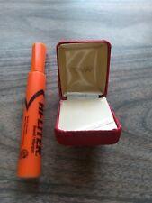 ROMAN JEWELRY BOX - EMPTY - SMALL - RED - SQUARE