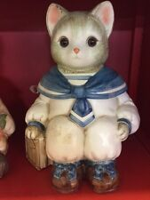WILBER COOKIE JAR(BLUE CAT)