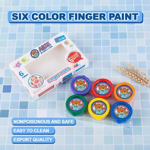6 Pcs Finger Paint Set Kids Child Nox-Toxic Craft Art Fun Washable DIY Graffiti