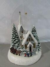 Teleflora Thomas Kinkade Winter At Mountain Chapel
