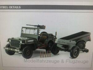 PR8-0010Jeep Willys, oliv, mit Anhänger, 1943, 1:8 Premium X