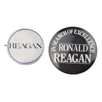 Vtg Ronald Reagan In Search of Excellence Political Campaign Pinback Button