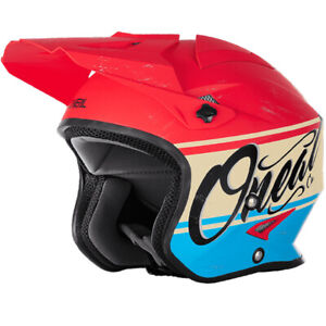 ONeal Slat Trials Helmet in VX1 Red Blue - ONeal Trials Helmets
