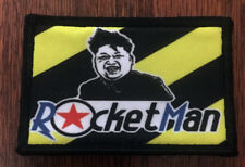 Kim Jong-un ROCKETMAN Morale Patch Tactical Military Army Flag Badge Hook