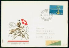 Mayfairstamps Switzerland 1969 horse Cachet Cover wwf54981