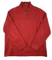 POLO RALPH LAUREN Red Pullover Sweater Mens Size L Leather Trim