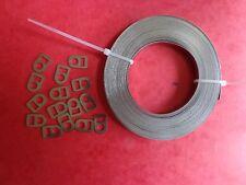 collier inox Ligarex pour cardan, 5 mm 10mètres +15 boucles