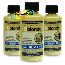 3x JEROME RUSSELL BBLONDE CREAM PEROXIDE 30vol 9% 75ml