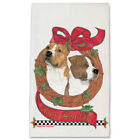 American Staffordshire Terrier Amstaff Dog Christmas Kitchen Towel Holiday Pet G