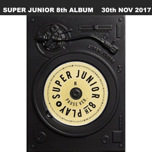 Super Junior Play 8th Album Pause Ver CD+Booklet+Letter To Fans+Limited Item
