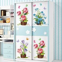 Wall Sticker Hand painted Potted Wallpapers Art Mural Waterproof Bedroom