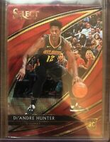 2019-20 PANINI SELECT T-MALL DE'ANDRE HUNTER RED WAVE PRIZM COURTSIDE RC