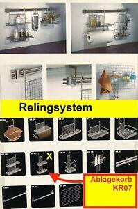 Relingsystem Ablagekorb ,Reling-System Küchenreling Ordungssystem KR 07