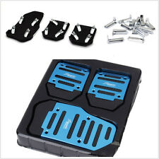 Blue Nonslip 3 x Car Vehicle Accelerator Clutch Brake Foot Pedal Cover Treadle