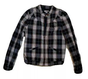 Split Women Black and Gray Jacket Sz Medium M - Full Zip