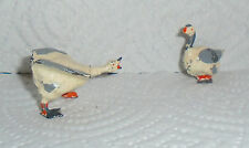 "Vintage Lead Britains Farm ""Goose"" #510 And ""Angry Gander"" #519 EX Cond. F/S"