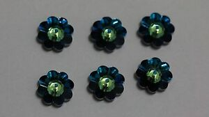 6 X Swarovski  #3700 MARGARITA FLOWER Beads 12mm, Many Special Effect Colors!