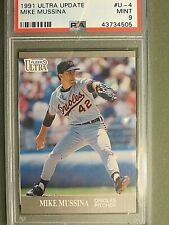 1991 Fleer Ultra Update  Mike Mussina  RC   #U-4  PSA 9 MINT  Combined Shipping
