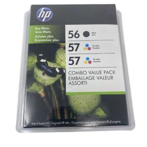 3 Pack HP 56 Black 57 Tricolor Combo Value Pack Ink Cartridges Exp Dec 2012
