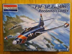 Monogram F9F-5P PANTHER RECONNAISSANCE 1/48 Scale Model Kit. BRAND NEW!