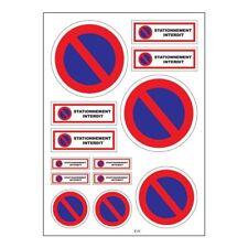 Planche A4 de stickers stationnement interdit autocollant adhésif - B20