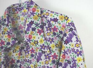 Mens Vtg 70s Style Disco Party Ditsy Floral Psychedelic RETRO Festival Shirt L