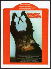 THE BURNING__Original 1981 Trade AD / promo__TOM SAVINI__HOLLY HUNTER__Cropsy