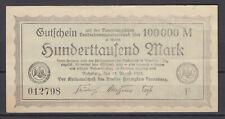Ratzeburg - Kreis Herzogtum Lauenburg - 100 Tausend Mark - Buchstabe F