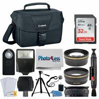 Accessory Bundle for Canon T5i, T6i, T7i, 80D, 77D, SL1 with 18-55mm STM Lens