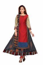 Long Gown Dress Red Indian Pakistan Kurti  Bollywood Red Anarkali Designer