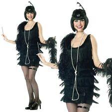 1920s 30s Flapper Ladies Womens Charleston Gatsby Girl Fancy Dress Costume 10-18