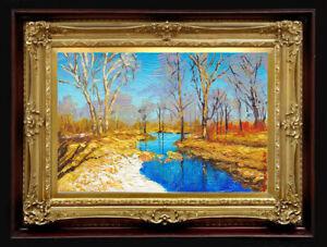 "ORIGINAL Oil Painting Handmade Arseni ~ SPRING 6"" X 4"" NO FRAME Artist Art2"