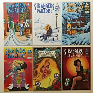 STRANGERS IN PARADISE 22 COMIC LOT VOL 2 & 3 HOMAGE #1-8 TERRY MOORE ABSTRACT 1B