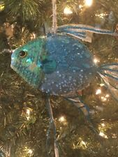 NEW Pottery Barn Angel Fish Ornament Beach Sea Ocean Coastal