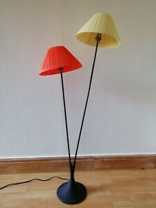 Funky 50s 60s 70s atomic rockabilly retro ribbon handmade lamp shade  - orange
