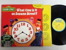 SESAME STREET LP: What Time Is It On Sesame Street? CTW Records 1977, w/ CLOCK